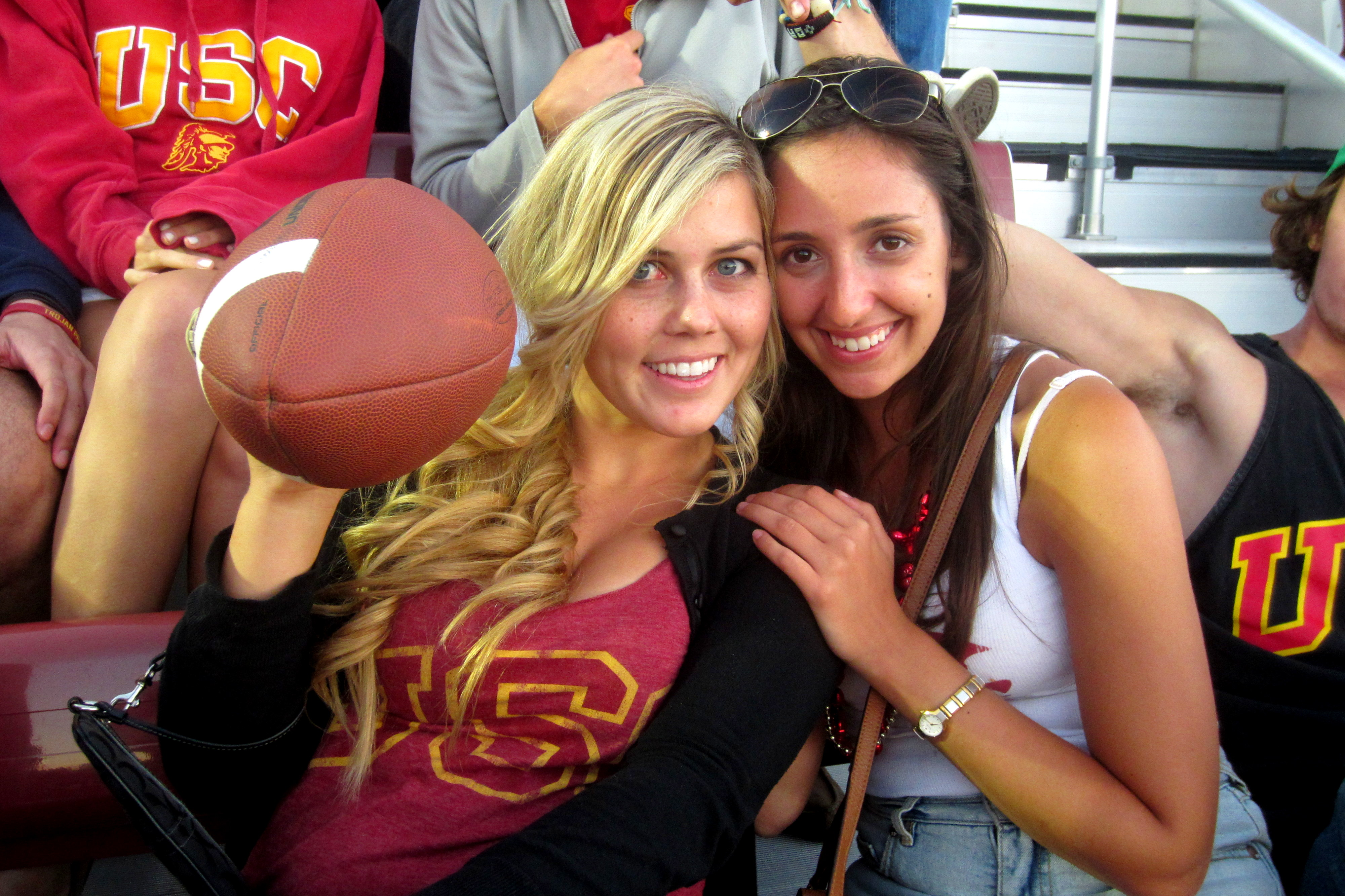 USC Fans students stanford
