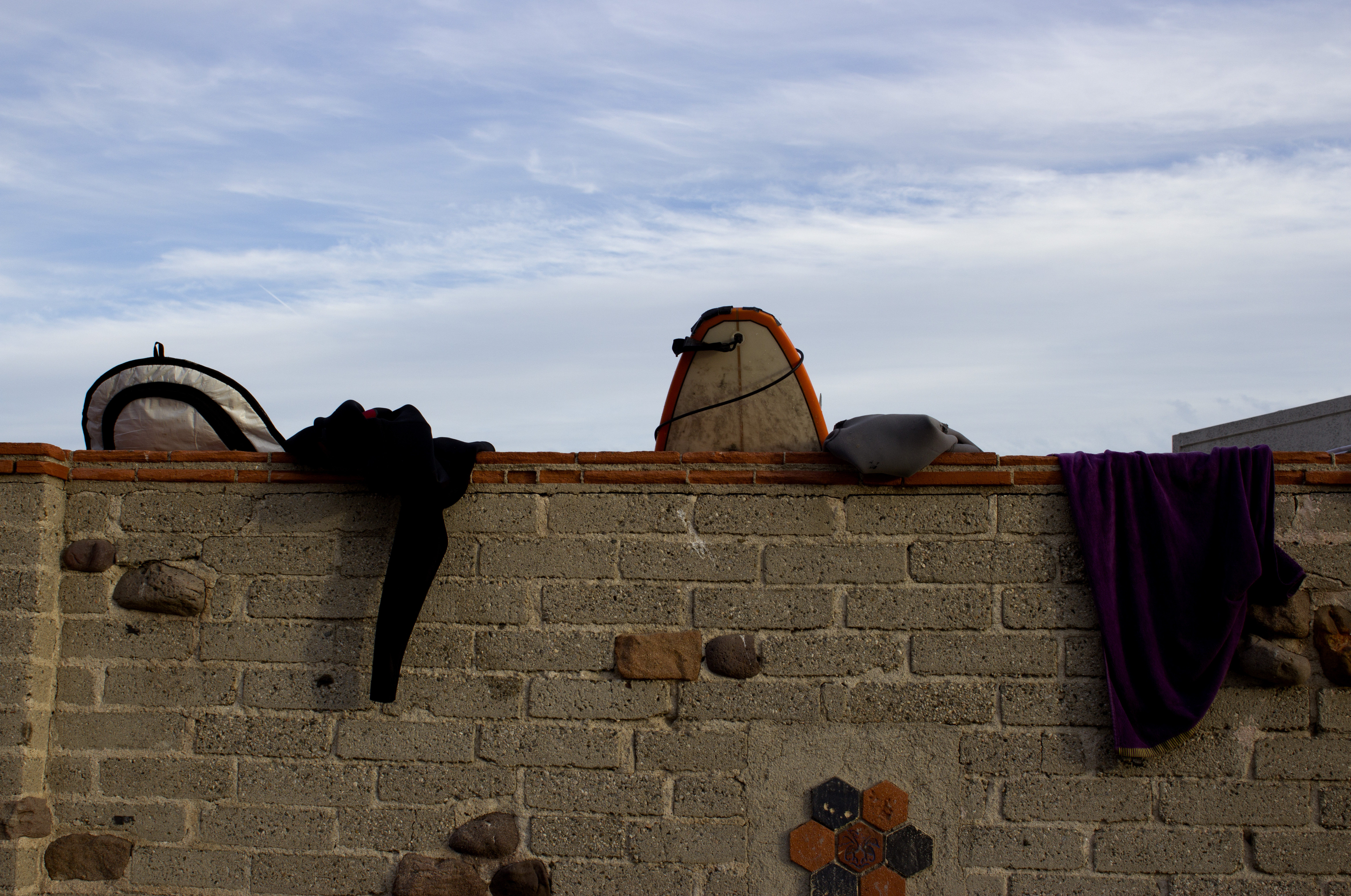 Surfboards on a wall