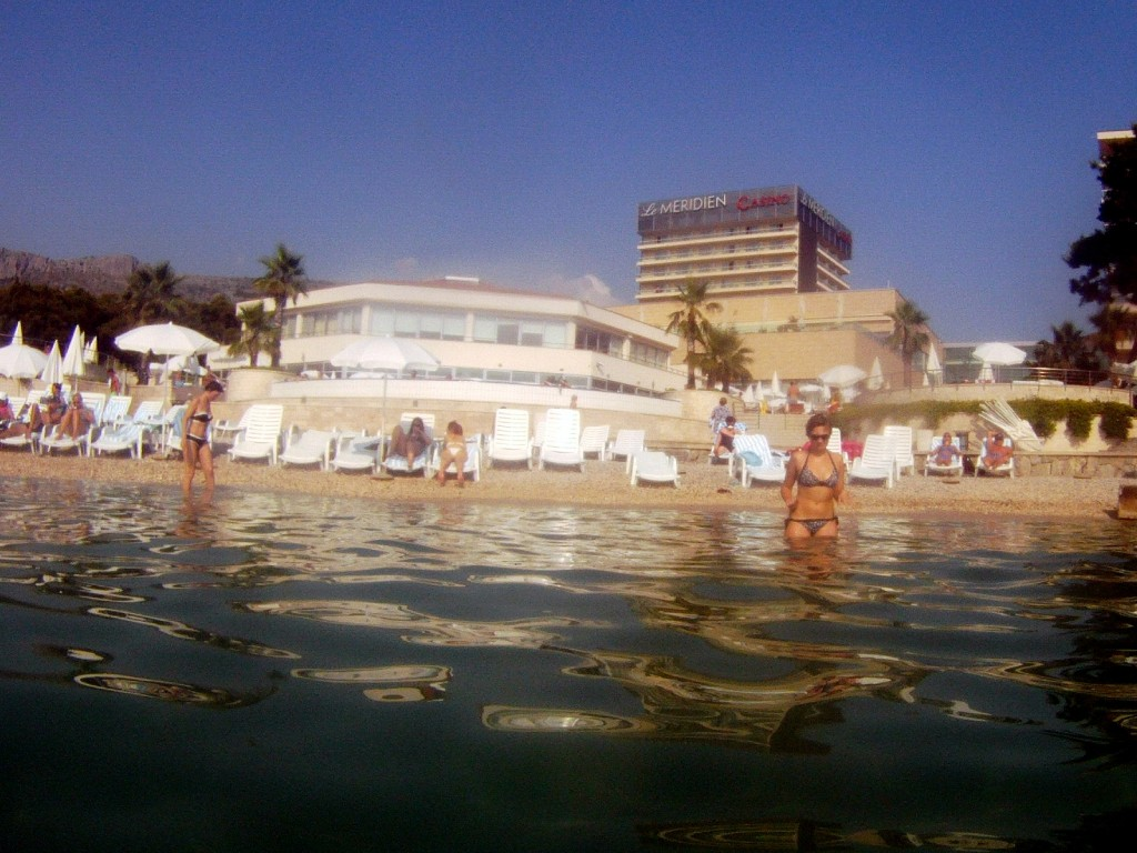 View of Le Meridian from the sea