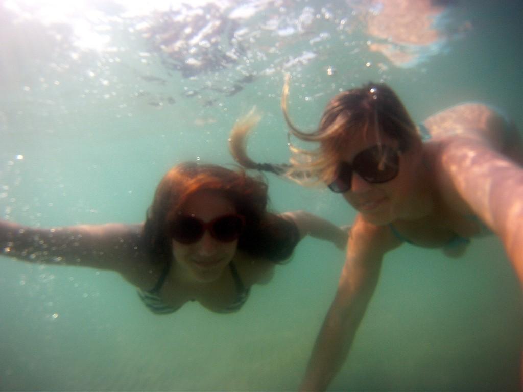 Julia and I exploring the sea!