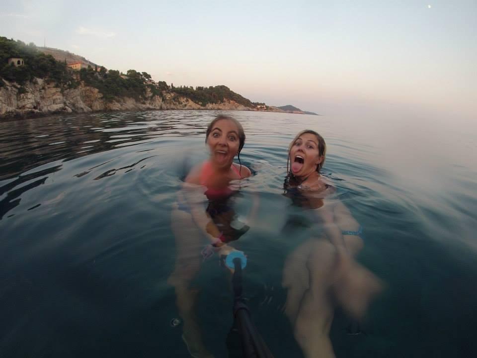 Evening swim + silliness