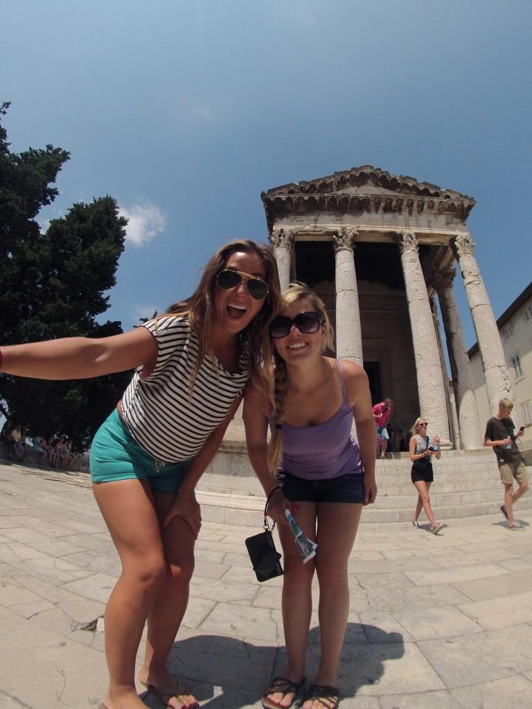 Pula Croatia Roman Collums