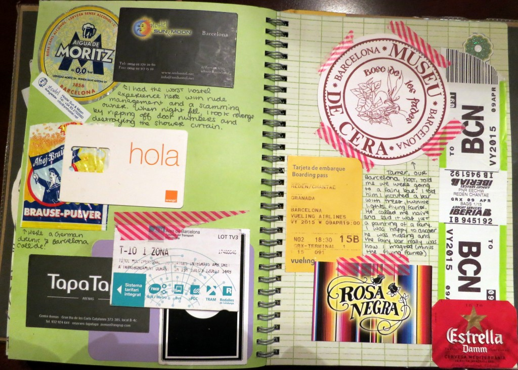 barcelona travel smash book