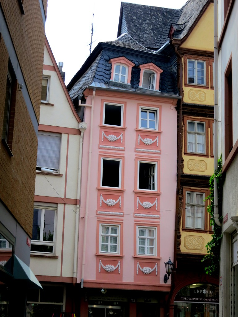 Love this little pink building wedged in there.