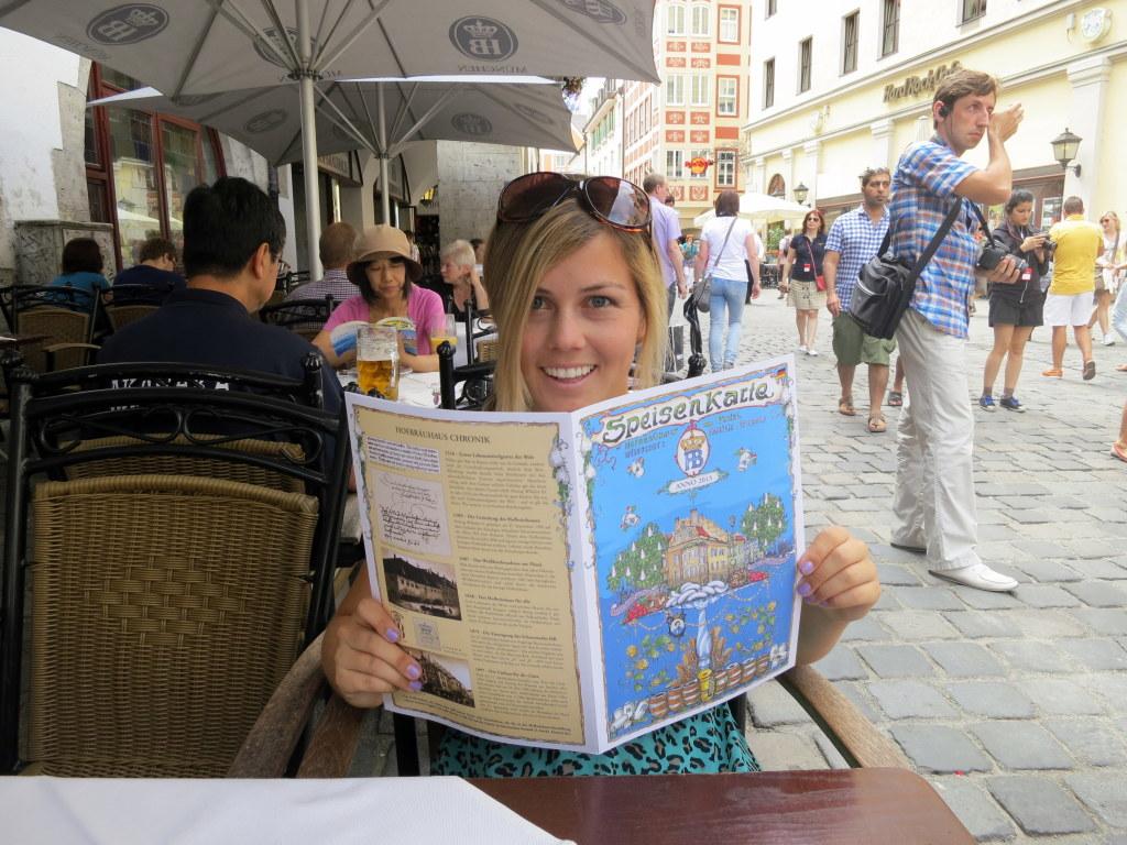 First step: Understanding a German menu