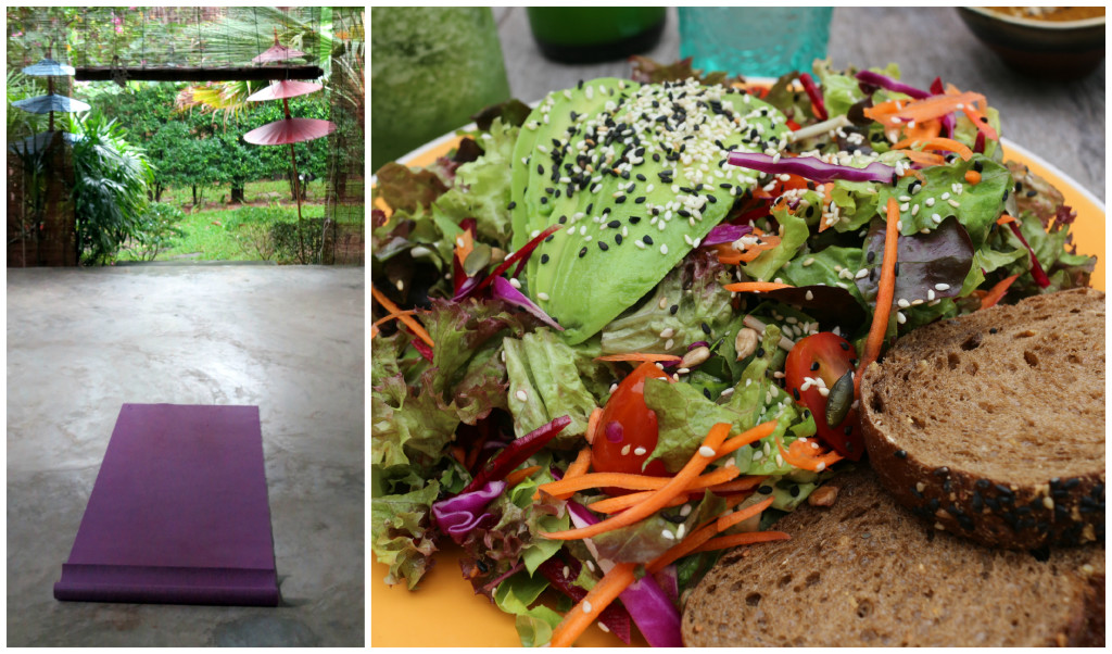 Space to practice and a delicious salad to eat