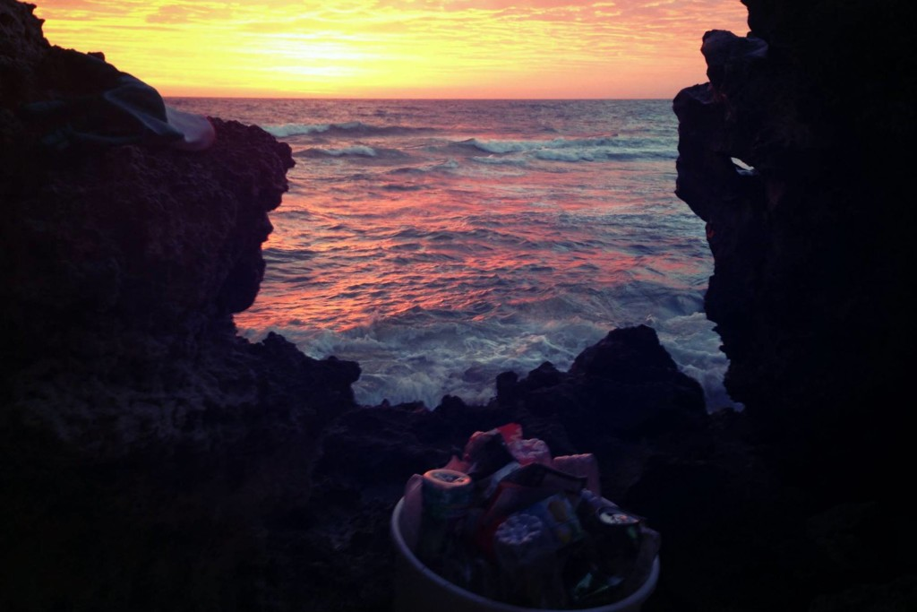 Photo the Perth founder, Jorja Murphy took of a bucket of trash collected on the beach