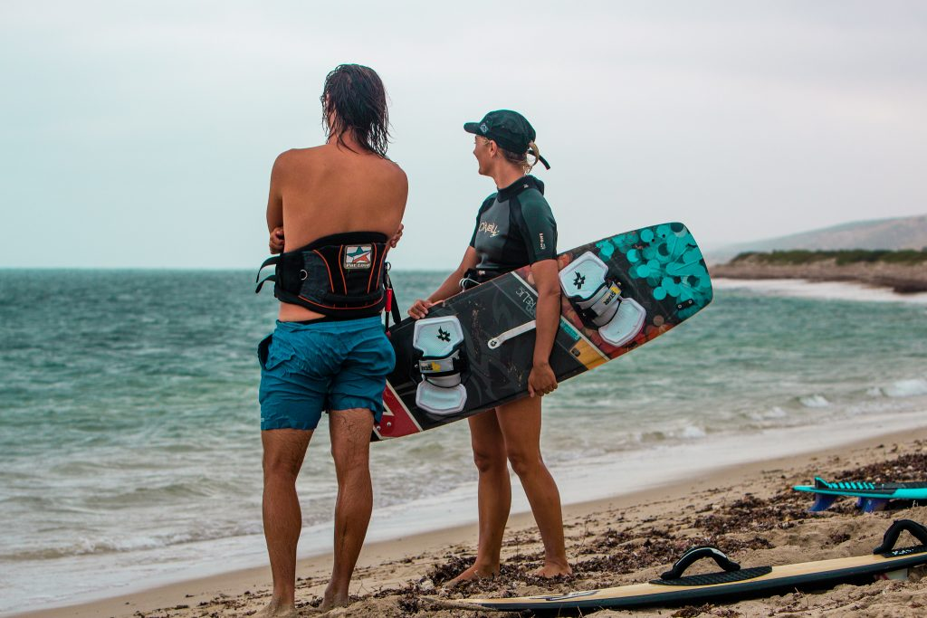 Brian and Martina, the sibling duo who started Adventure Kiting WA
