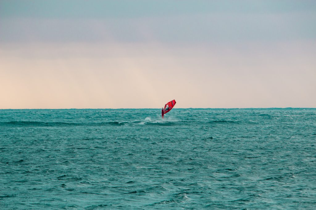 Coronations Windsurfer Jumping