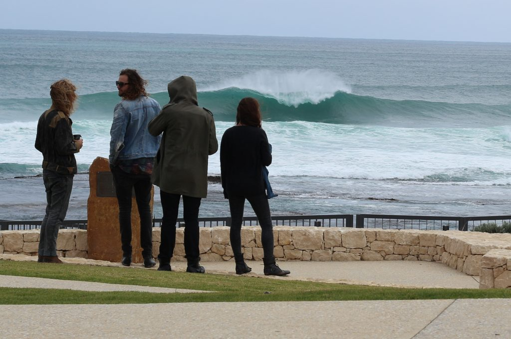 Looking out over Surfers Point in Margaret River