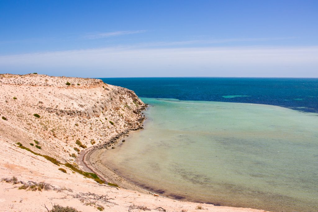 Eagle Bluff lookout in shark bay