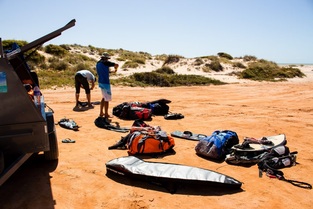 Eagle Bluff kitesurfing