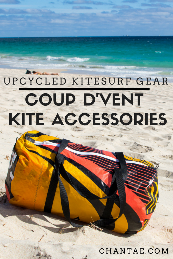 Coup D'vent: a kitesurf accessories company turning worn out kitesurf and windsurf gear into new things.