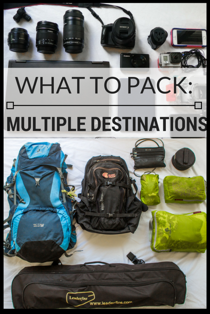 How do you pack for multiple destinations on a single trip? Read these tips and tricks to making the most of your luggage space.